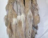 Reserved-Patchwork Fur Cape Jacket