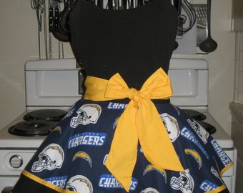 San Diego Chargers Ladies Fancy Hostess Half Apron