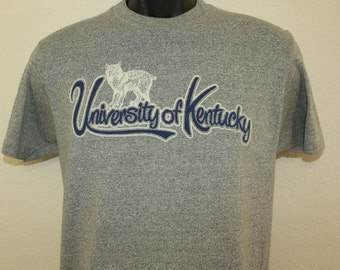 University of Kentucky Wildcats vintage t-shirt Small gray 70s 80s soft basketball