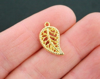 15 Leaf Charms Gold Plated - GC721