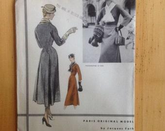 Vogue Paris Original Model 1228 Jacques Fath
