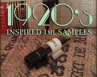 1920s inspired Perfume Samples / 1ml perfume / Vegan perfume / inspired by The Great Gatsby