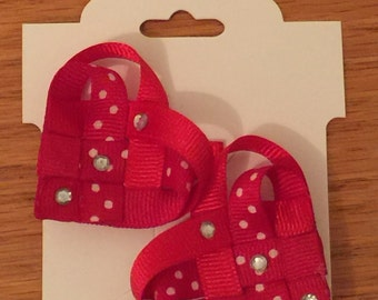 Woven Heart Clippies - Valentine's Clippie - Love Clippie