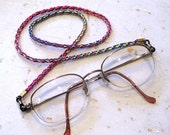 Rainbow kumihimo glasses cord glasses chain glasses lanyard spectacle chain
