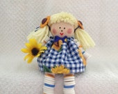 Dailey's Darlings - Sunflower Button Doll