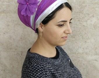 chemo headscarf,oshratDesignz,hair snood,head coverings,israeli tichel,hair cover,haarband,hair scarf