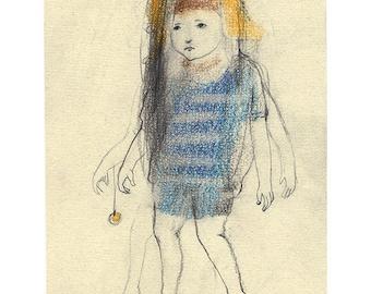 Child drawing illustration original portrait people figurative