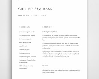 Recipe Word Template. 4 recipe template free for word resume ...