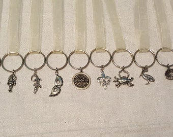 FREE SHIPPING Eight Wedding Cake Pulls New Orleans and Traditional on Key Chain