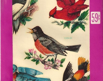 Vintage Meyercord Bird Decals, C1960s