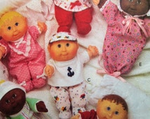 Vintage Butterick 3107 Sewing Pattern, Cabbage Patch Doll Clothes, Cabbage Patch Preemies, Teeny Tiny Preemies, Baby Doll Clothes