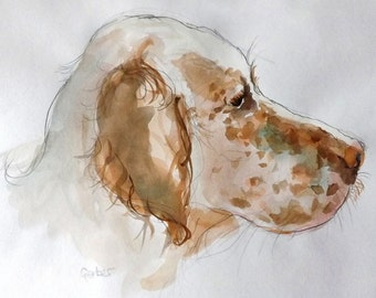 Custom Portraits in Watercolour - Cats and Dogs