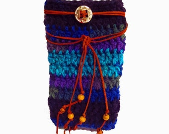 Leg Warmers With Leather Wrap, Crochet Handmade Boot Cuffs, Boho Clothes, Hippie Clothes, Bohemian Clothing, Boot Socks, Women's Boot Cuffs