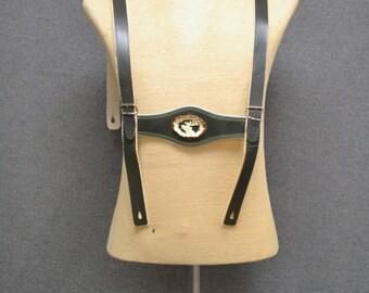 1970s Lederhosen Suspenders