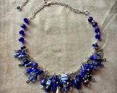 Blue Silver Charm Necklace KIND OF BLUE