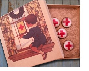 Red Cross pushpins, Nurse gift, Nurse pushpins