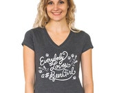 Everybody Loves a Beer Girl Relaxed Fit Women's V-Neck Tee - Perfect Beer Festival Beer Girl Craft Beer Geek Gift