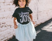 Kids T Shirt - I Choose Joy - Kids Clothes - Boys Clothing - Girls Clothing - Baby and Toddler Youth Tops - American Apparel Tri Blend