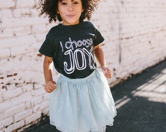I Choose Joy  Graphic Tee - Kids Clothes - Boys Clothing - Girls Clothing - Baby and Toddler Youth Tops