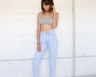 jeans, Guess high waisted jeans , 80s  light acid wash tight  tapered skinny jeans, denim, straight leg, womens xs / 1