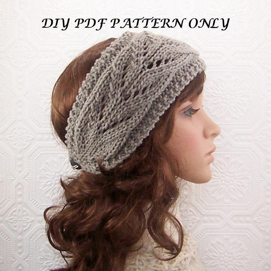 Headband Head Wrap Knitting Pattern : Instant download PDF knitting Pattern headband head wrap