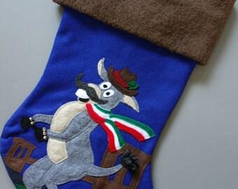 """Large Stocking--""""Dominick the Italian Christmas Donkey"""" Christmas Stocking"""