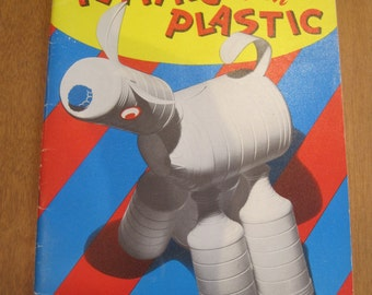 """Plastic Bottle Craft Book """"Playing with Plastic"""" by Barbara Jean Rodgers Advertising/Marketing Ephemera Lanterns Toys Christmas Decorations"""
