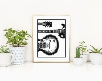 Electric Guitar Gibson Les Paul Giclee Print