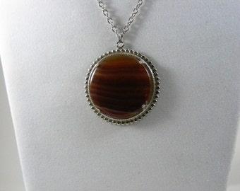 Vintage Banded Carnelian Necklace
