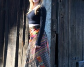 Lady Nomad Tribal Patchwork Wrap Skirt