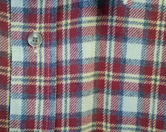 60s Pendleton virgin wool plaid shirt - like new condition! - Mens Large