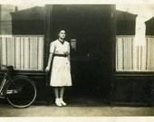 "Vintage Photo ""The Doomsday Cafe"" Snapshot Antique Photo Black & White Photograph Found Paper Ephemera Vernacular - 184"