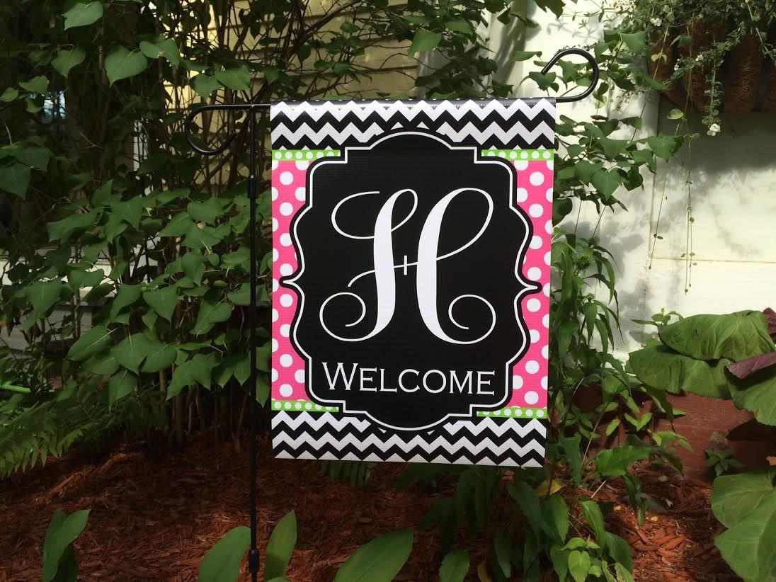 Personalized Monogram Garden Flag Family Name Custom Flag