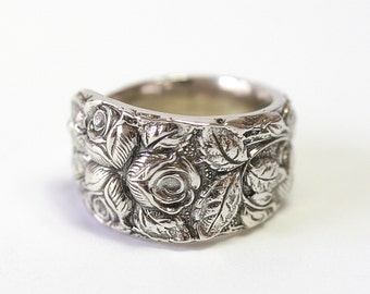 Antique Sterling Silver Ring - Baltimore Rose, 1905