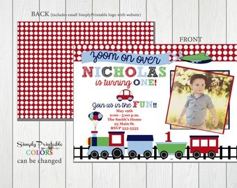 1st birthday invite etsy train planes automobile birthday invitation 1st birthday invite boys first birthday stopboris Images