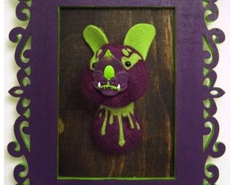 Halloween Portrait Bat No. 3 - One of a Kind Mixed Media Faux Taxidermy