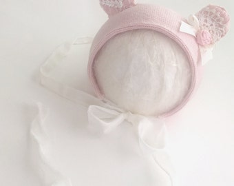 Darling animal newborn photography girls bonnet photography props