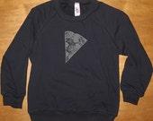 Pizza Shirt - Kids Sweatshirt Pizza Slice Girls or Boys Long Sleeved Navy Blue - Fleece Shirt - 2T, 4T, 6, 8, 10, 12  Gift Friendly