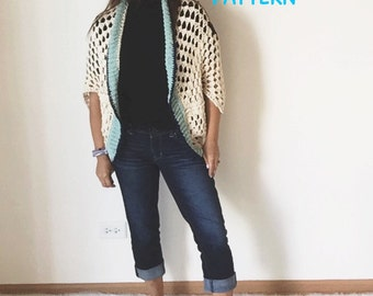 Spring Crochet Shrug Pattern, The Martingale Shrug Crochet Pattern, Instant PDF Download