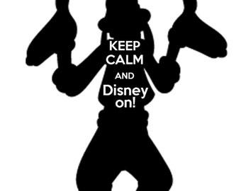 Goofy- Keep Calm and Disney on tshirt design