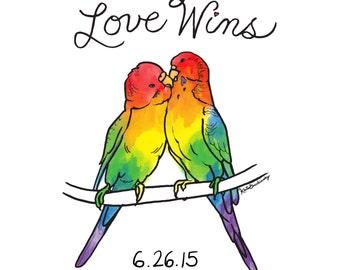 LOVE WINS Commemorative Art Print LGBTQ