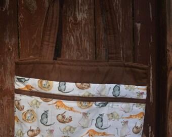 Cat Canvas Tote Bag