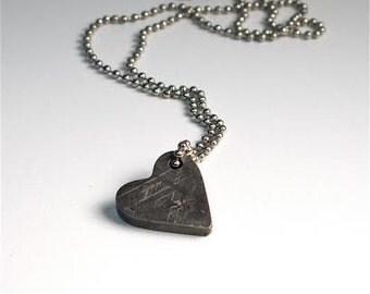 Valentine Meteorite Jewelry, Heart Necklace, Romance,