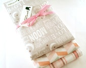 Baby Girl Burp Cloth Set - Love you to the moon and back grey/gray & pink