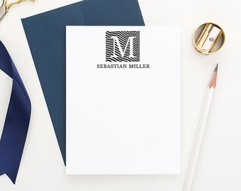 Monogram Stationery for men, Personalized Correspondence cards, Monogram Stationary for Men, Professional Stationery for Men - MLP1610