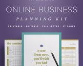 Online Business Planning Kit – Editable Small Business Planner Printable, Etsy Shop Planner, Entrepreneur Planner, Freelance Planning