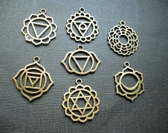 Chakra Charm Collection in Bronze Tone - C2477
