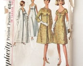 1960s Evening Dress and Coat Pattern Simplicity 6219 Womens Empire Waist Formal Cocktail Wedding Prom Dress Sewing Pattern Size 18 Bust 38