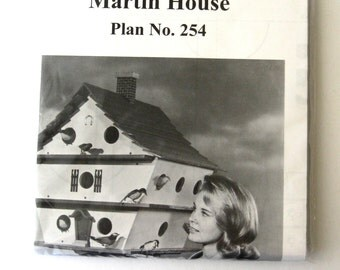 U Bild Plan 254 Birdhouse Construction Plan Martin House Multi-Story Woodworking Pattern 1998 NIP