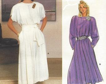 80s Guy Laroche Womens Tucked Blouson Dress Vogue Paris Original Sewing Pattern 1553 Size 14 Bust 36 Vintage Paris Original Patterns